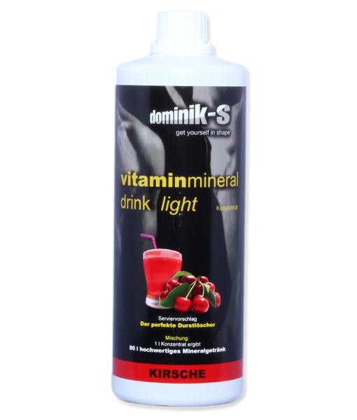 Vitaminmineraldrink Light Kirsche